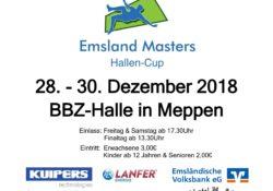 Flyer des Emsland Mastesr Hallenturnieres 2018